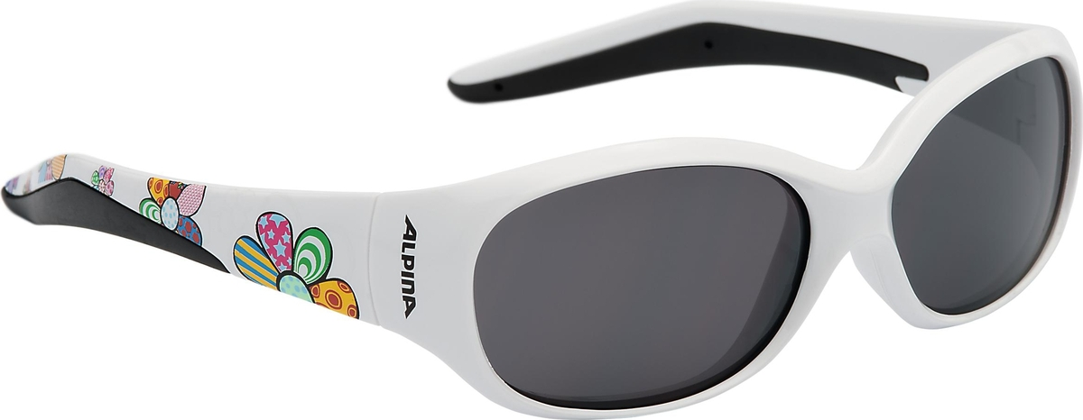 Велосипедные очки Alpina Flexxy Kids, цвет оправы: белый велосипедные очки alpina a 107 p цвет оправы черный