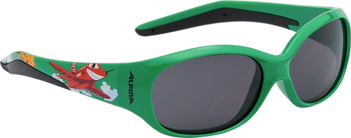 Велосипедные очки Alpina Flexxy Kids, цвет оправы: зеленый велосипедные очки alpina a 107 p цвет оправы черный