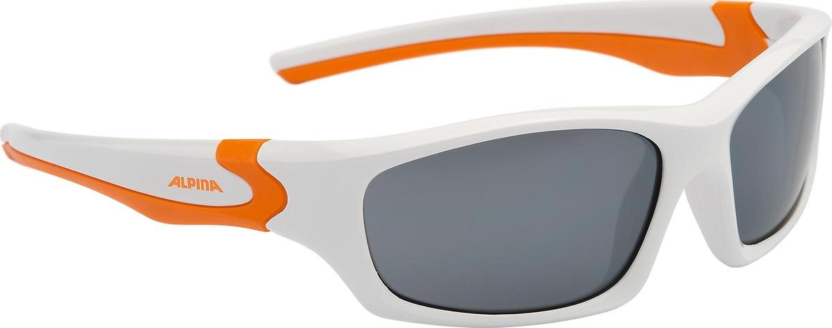 Велосипедные очки Alpina Flexxy Teen, цвет оправы: белый, оранжевый велосипедные очки alpina a 107 p цвет оправы черный