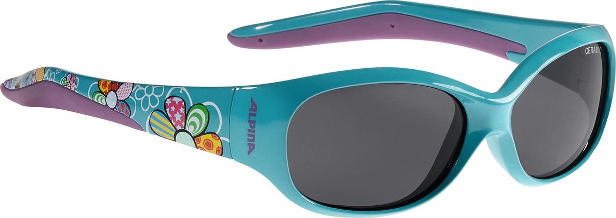 Велосипедные очки Alpina Flexxy Kids, цвет оправы: бирюзовый. 4003692237620 велосипедные очки alpina a 107 p цвет оправы черный