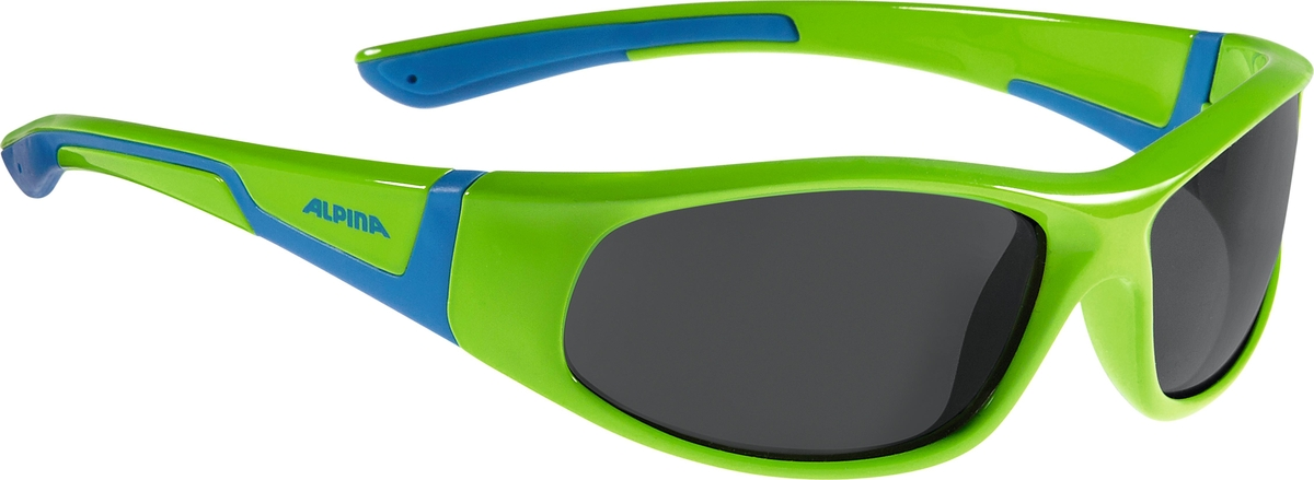 Велосипедные очки Alpina Flexxy Junior, цвет оправы: зеленый, синий