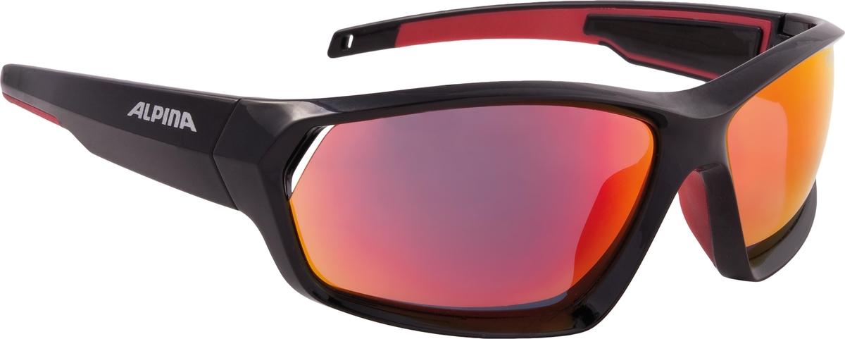 Велосипедные очки Alpina Pheso, цвет оправы: черный, красный велосипедные очки alpina a 107 p цвет оправы черный