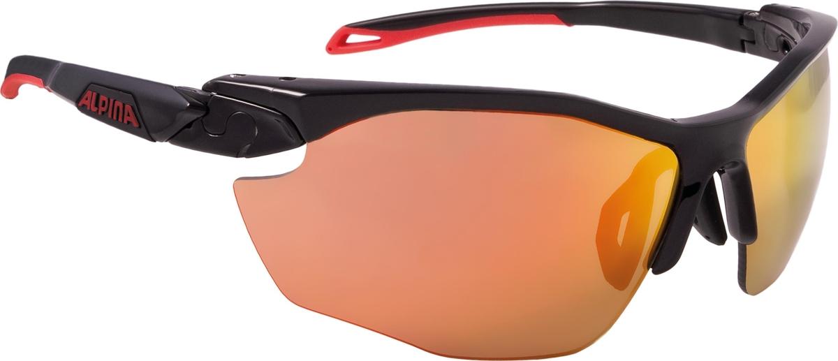 Велосипедные очки Alpina Twist Five Hr Cm+, цвет оправы: черный, красный велосипедные очки alpina a 107 p цвет оправы черный