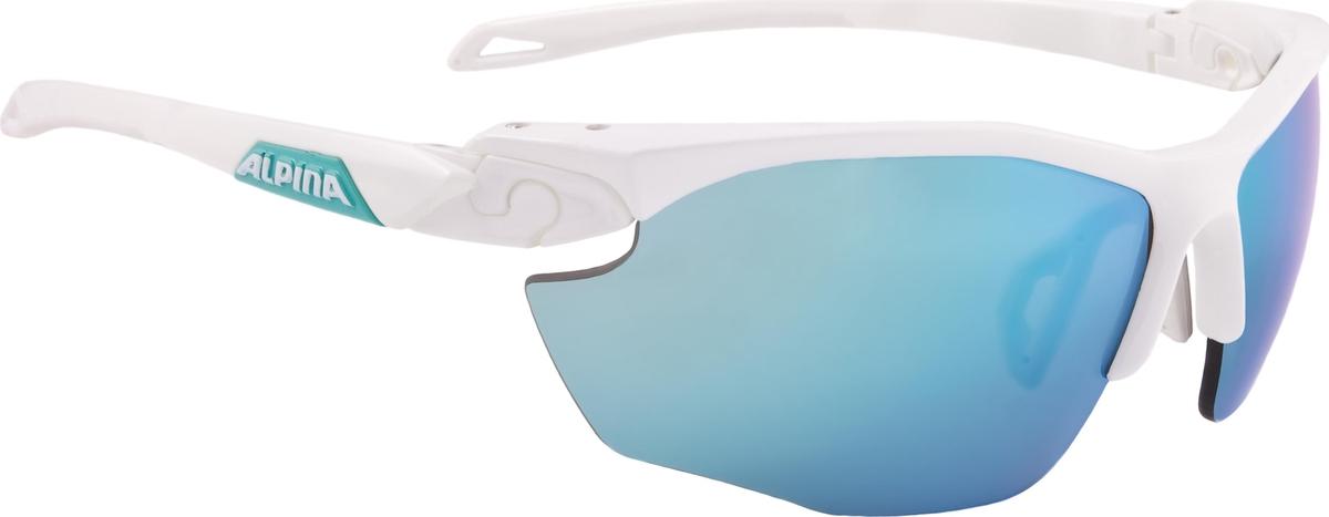 Велосипедные очки Alpina Twist Five Hr Cm+, цвет оправы: белый, бирюзовый