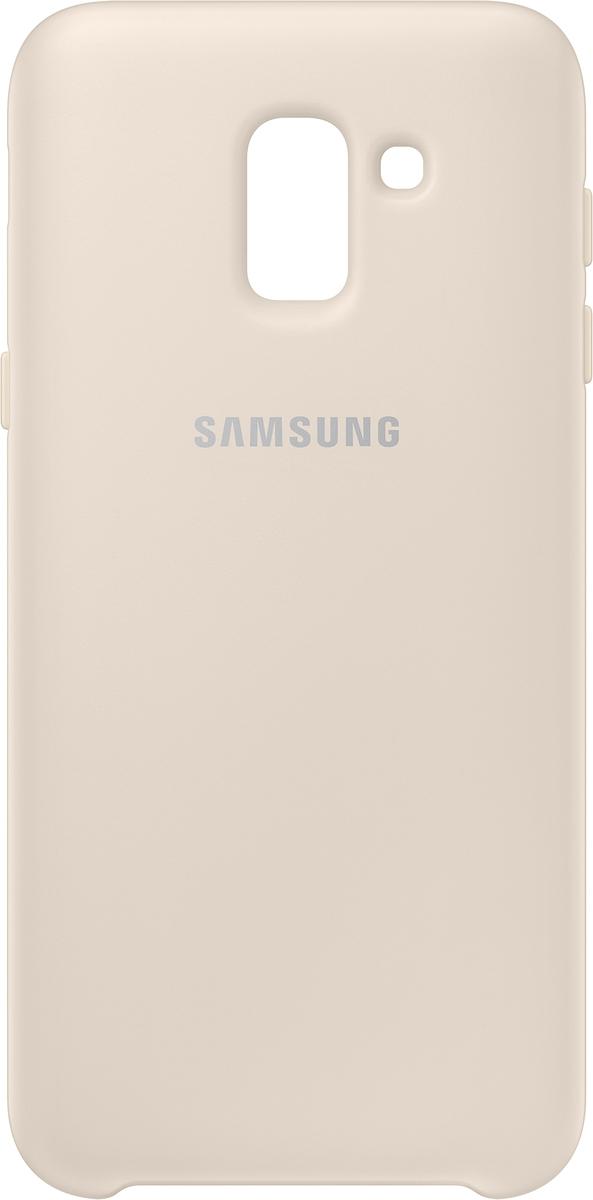Samsung Dual Layer Cover чехол для Galaxy J6 (2018), Gold корпус samsung galaxy s8 plus прочный защитный футляр gangxun dual layer прочный гибридный жесткий корпус с защитой от ударов для