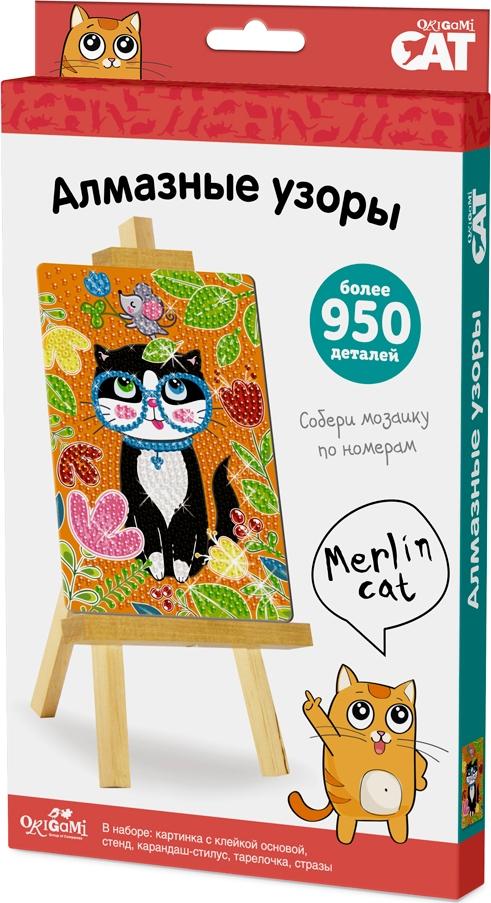 Origami Cat Алмазные узоры Merlin Cat origami cat алмазные узоры merlin cat арт 03208