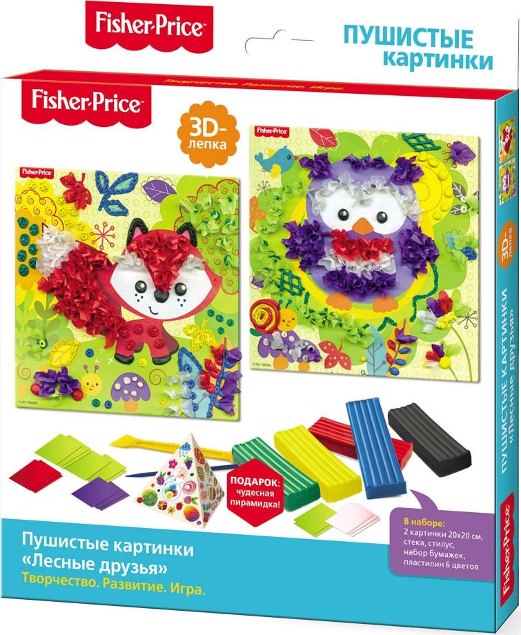 Fisher-Price 3D-лепка Пушистые картинки Лесные друзья fisher price 3d лепка пушистые картинки лев и жираф