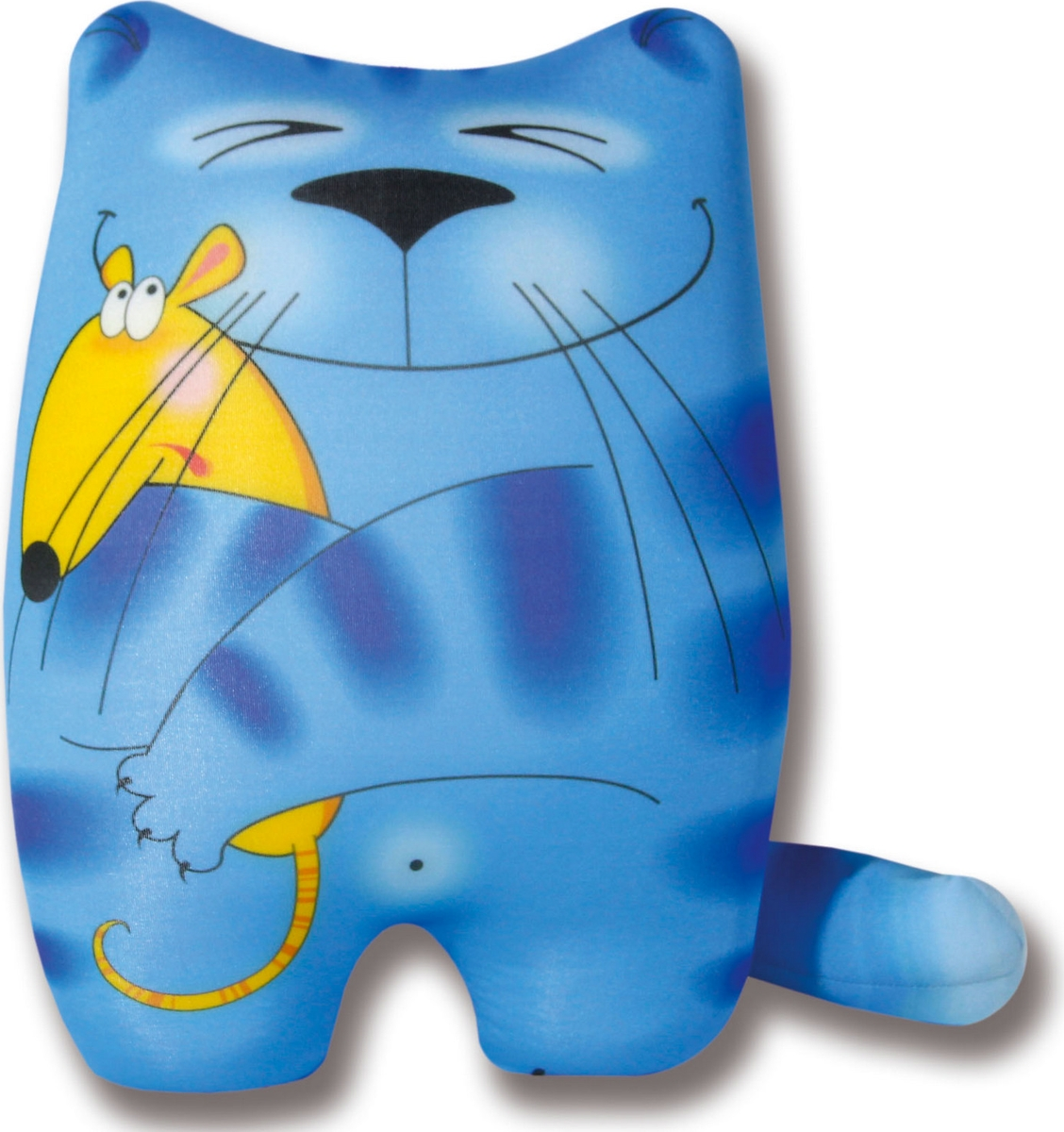 Подушка-игрушка антистрессовая Кошки Мышки, голубой