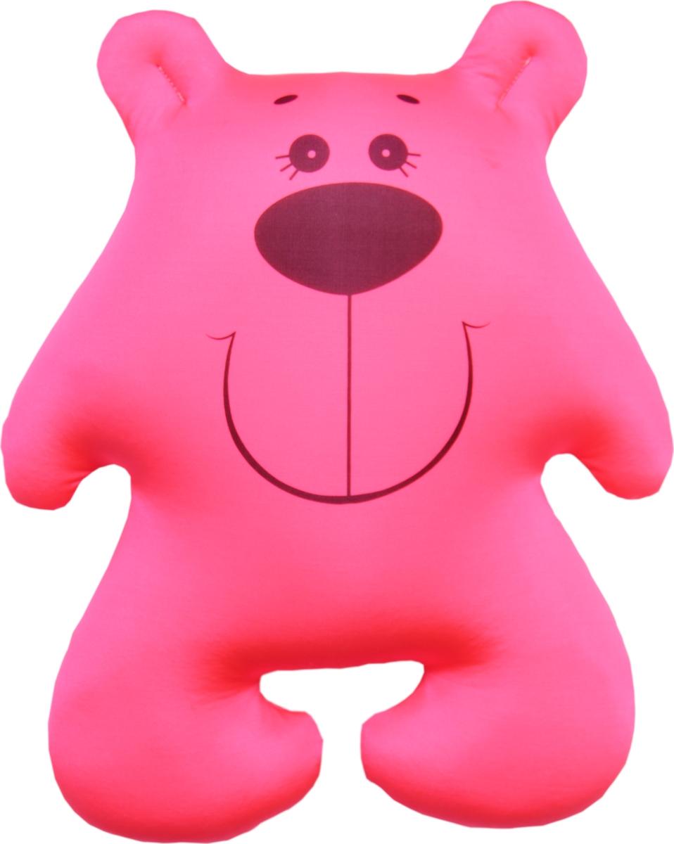 Штучки, к которым тянутся ручки Подушка-игрушка антистрессовая Мишки цвет розовый
