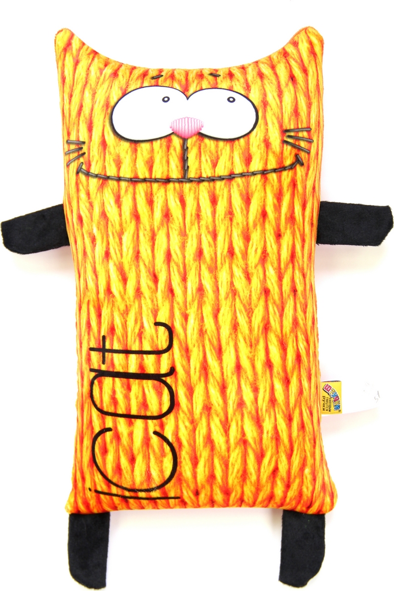Штучки, к которым тянутся ручки Подушка-игрушка антистрессовая I Cat цвет рыжий
