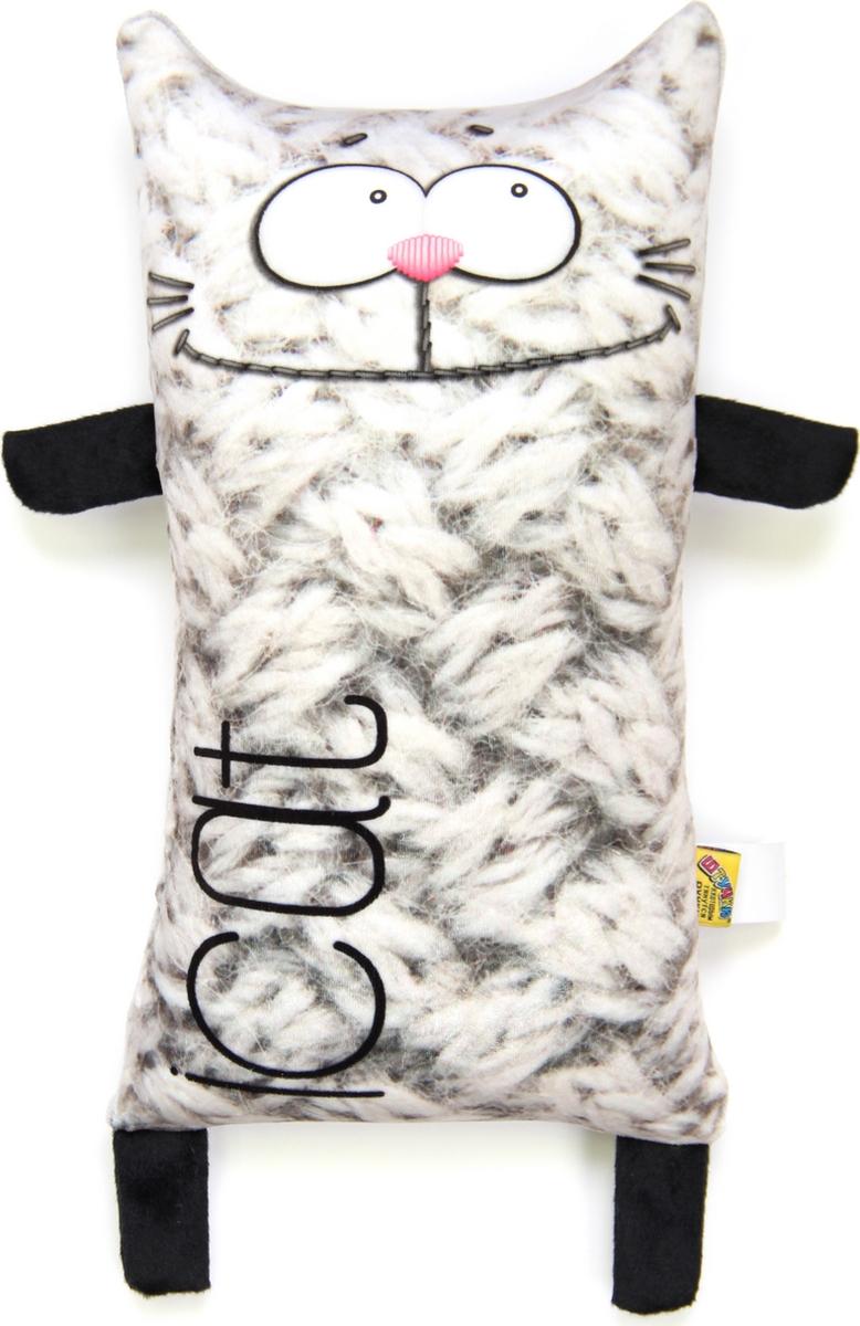 Штучки, к которым тянутся ручки Подушка-игрушка антистрессовая I Cat цвет серый
