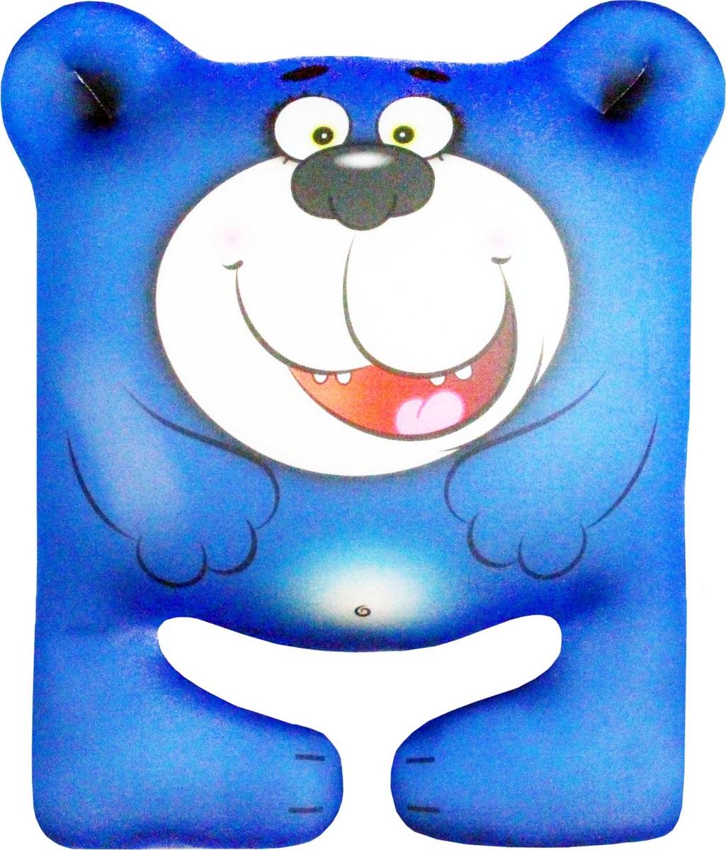 """Подушка-игрушка Штучки, к которым тянутся ручки Антистрессова """"Мишка"""" синий, синий"""