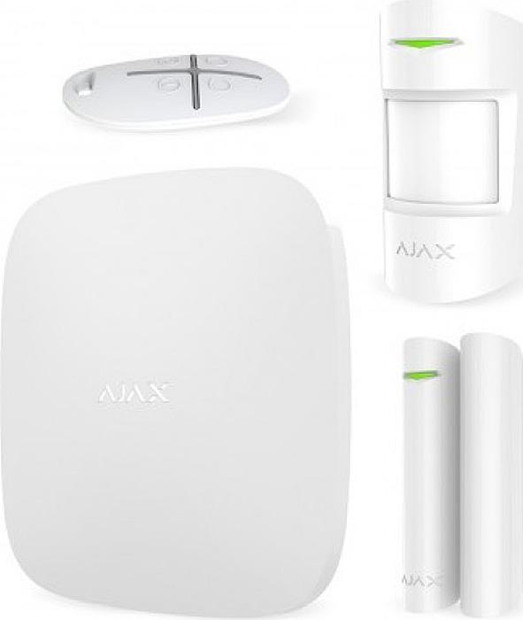Ajax StarterKit, White комплект радиоканальной охранной сигнализации датчики сигнализации homsecur diy gsm 3pet m2e white