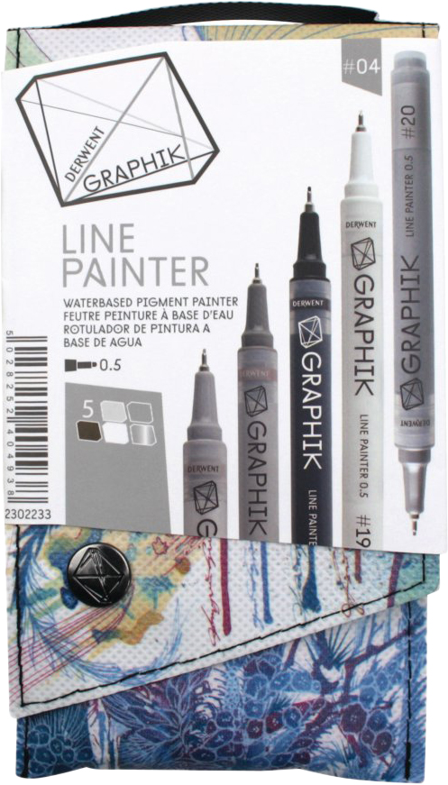 Derwent Набор капиллярных ручек Graphik Line Painter №4 5 шт