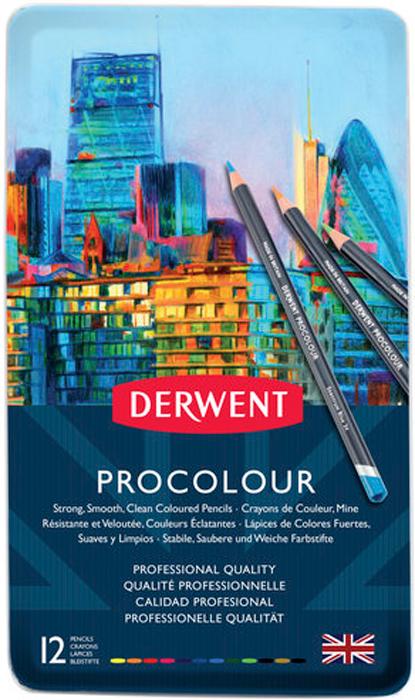 Derwent Набор карандашей Procolour 12 цветов