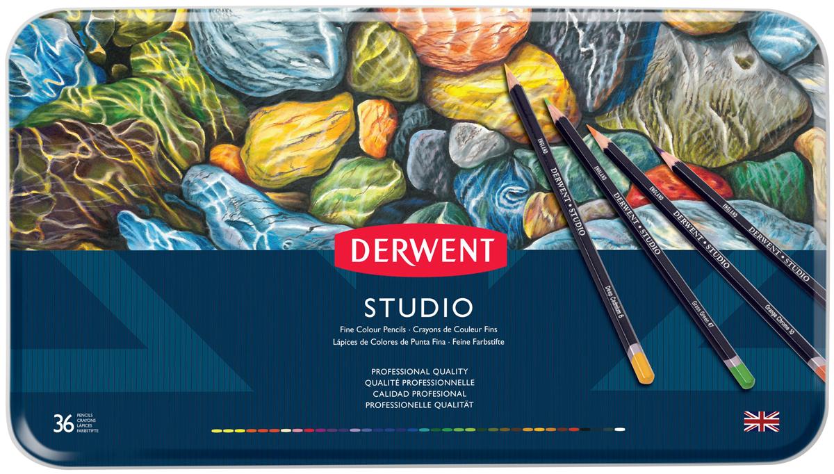 Derwent Набор цветных карандашей Studio 36 цветов