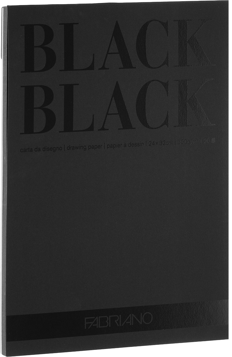 Фото - Fabriano Альбом для рисования BlackBlack 20 листов формат A4 19100391 fabriano альбом для пастели ingres 60 листов формат a4 65212972