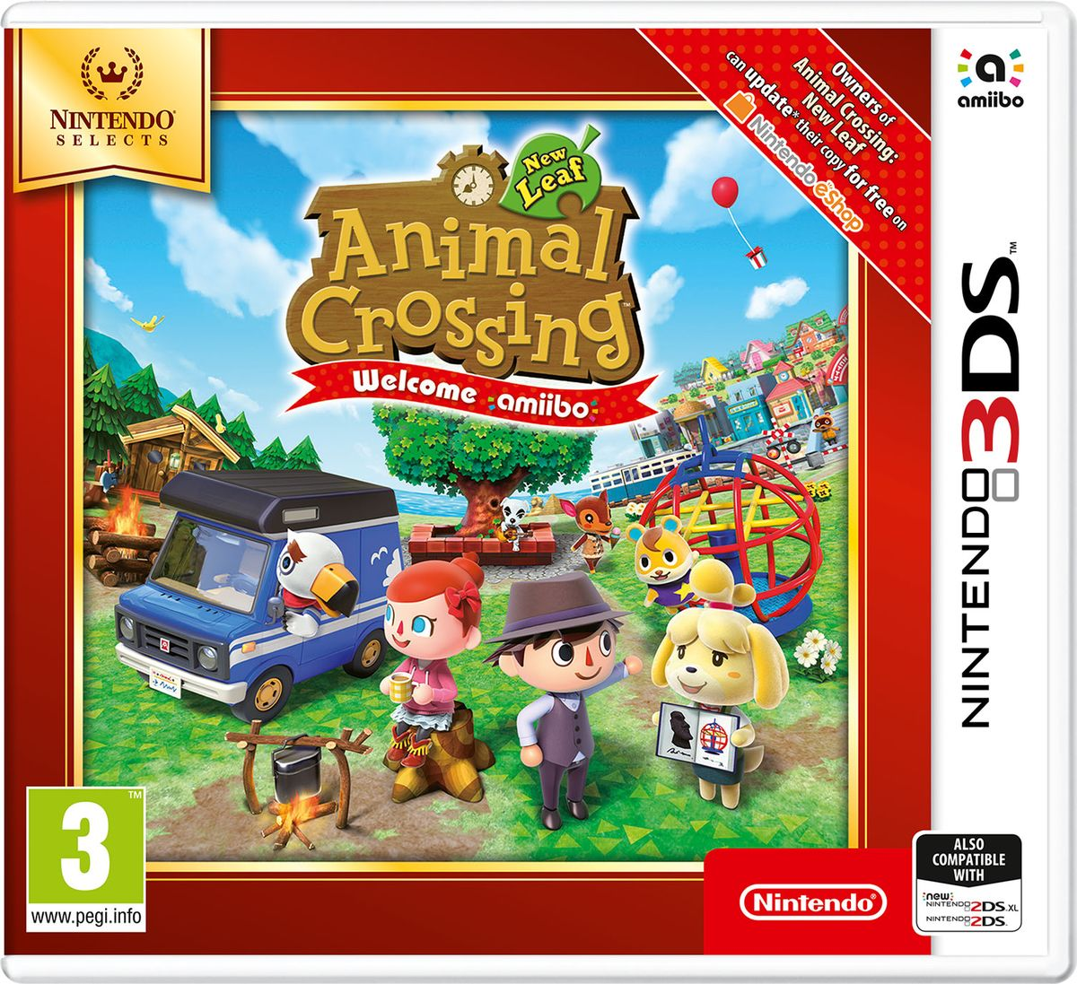 Animal Crossing: New Leaf - Welcome amiibo (3DS) amiibo splatoon фигурка жемчик и мариша