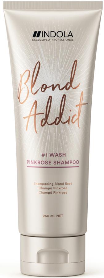 Indola Оттеночный шампунь Blond Addict Pinkrose, 250 мл