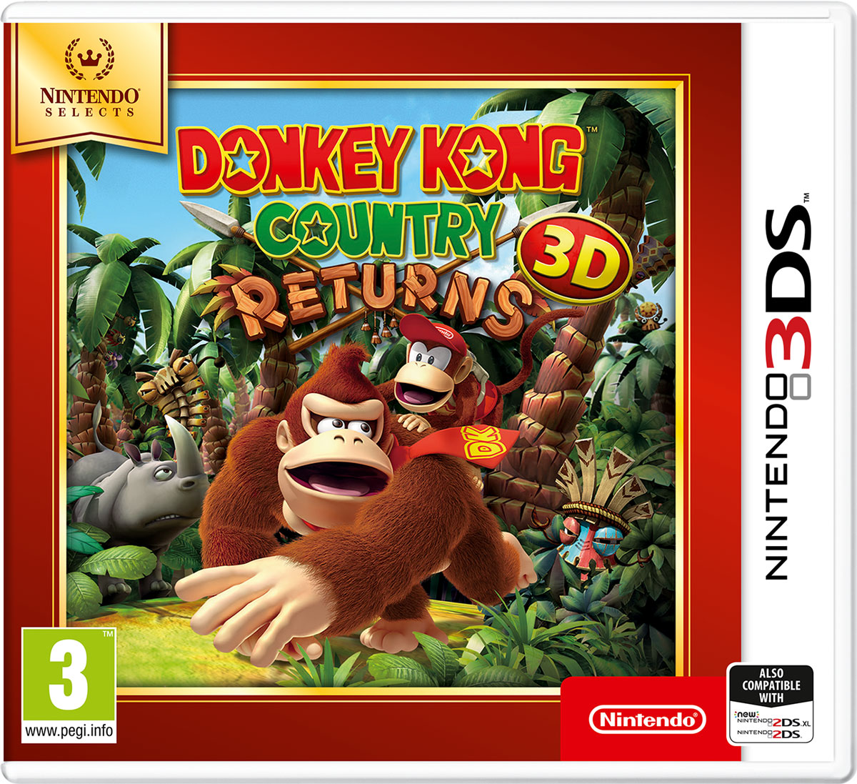 Donkey Kong Country Returns 3D (3DS) new nintendo 2ds xl animal crossing edition gray портативная игровая приставка