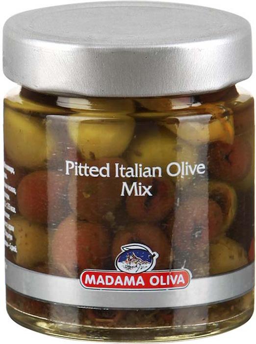 Madama oliva Смесь итальянских оливок, 190 г
