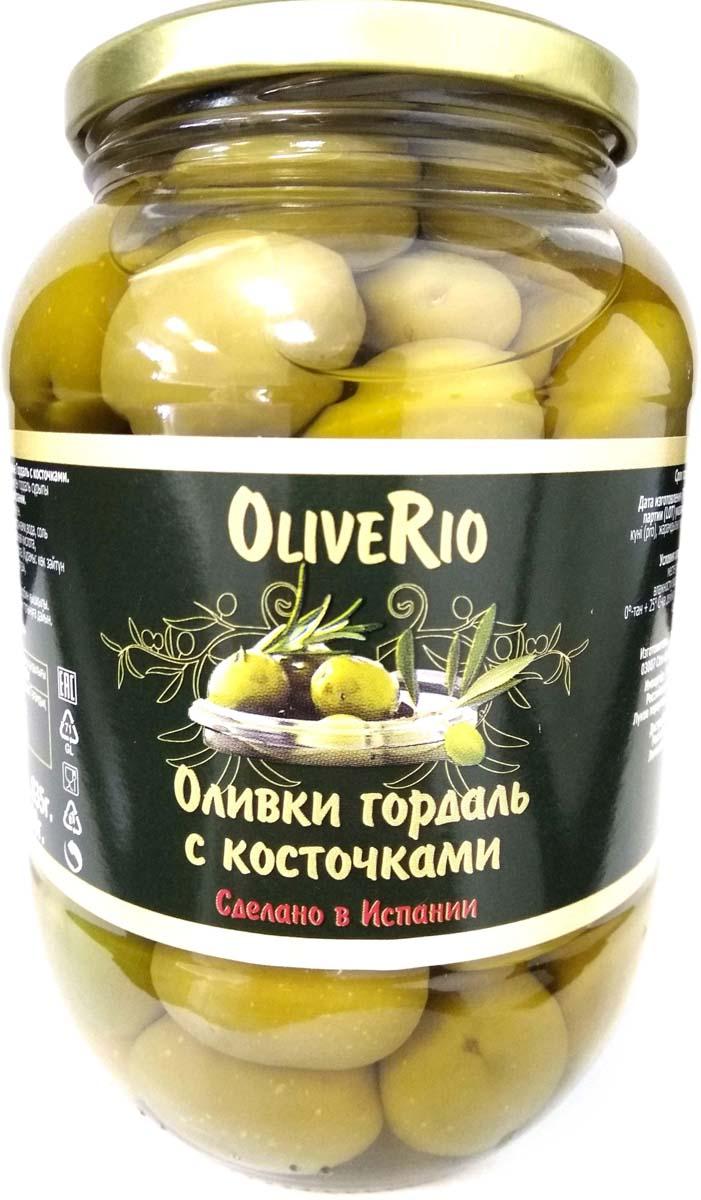 Oliverio Оливки гордаль с косточкой, 345 г guerola оливки зеленые сорта кампо реал с косточкой 2 25 кг