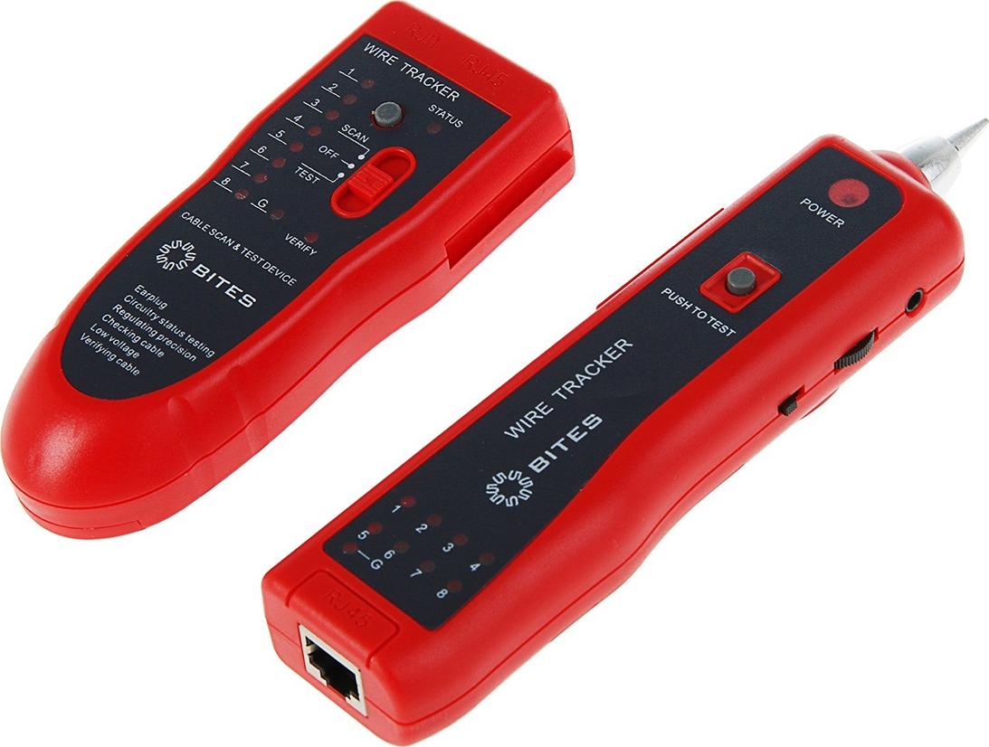 Тестер-трассоискатель кабеля 5bites, для UTP/STP/TEL