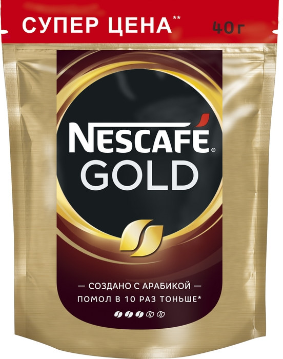 Nescafe Gold 100% кофе растворимый сублимированный, 40 г