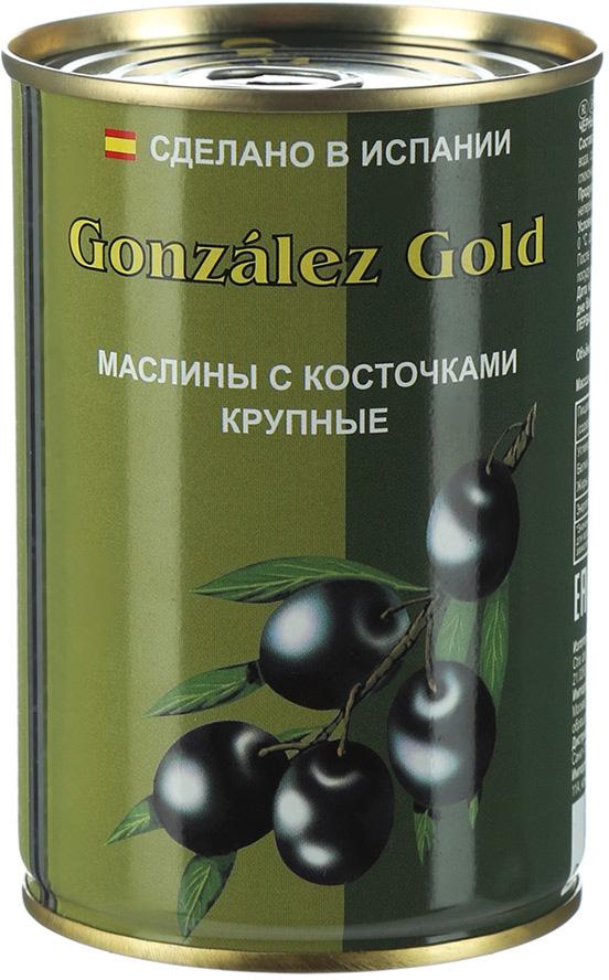 Aceitunas Gonzalez Маслины голд крупные с косточкой, 425 г