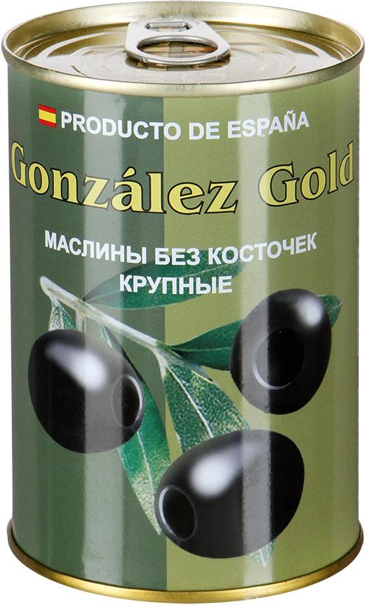 Aceitunas Gonzalez Маслины голд крупные без косточки, 425 г