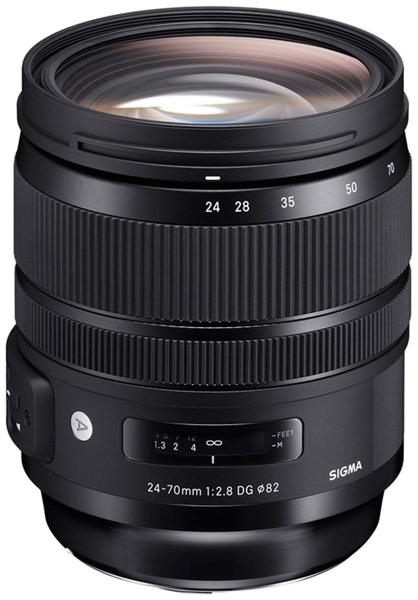 Объектив Sigma AF 24-70 mm F/2.8 DG OS HSM/A, Black для Canon