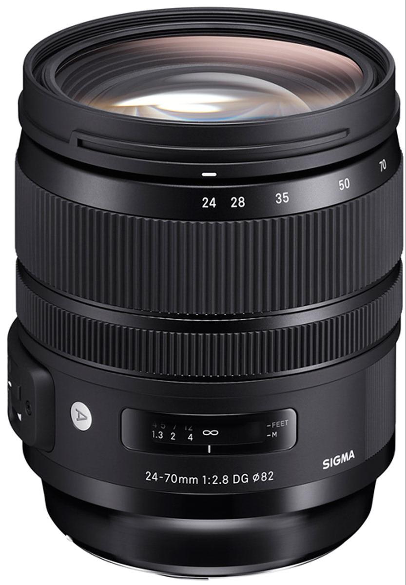 Объектив Sigma AF 24-70 mm F/2.8 DG OS HSM/A, Black для Nikon viltrox dg 1n 10mm 16mm auto extension tube set for nikon j1 j2 v1 black silver