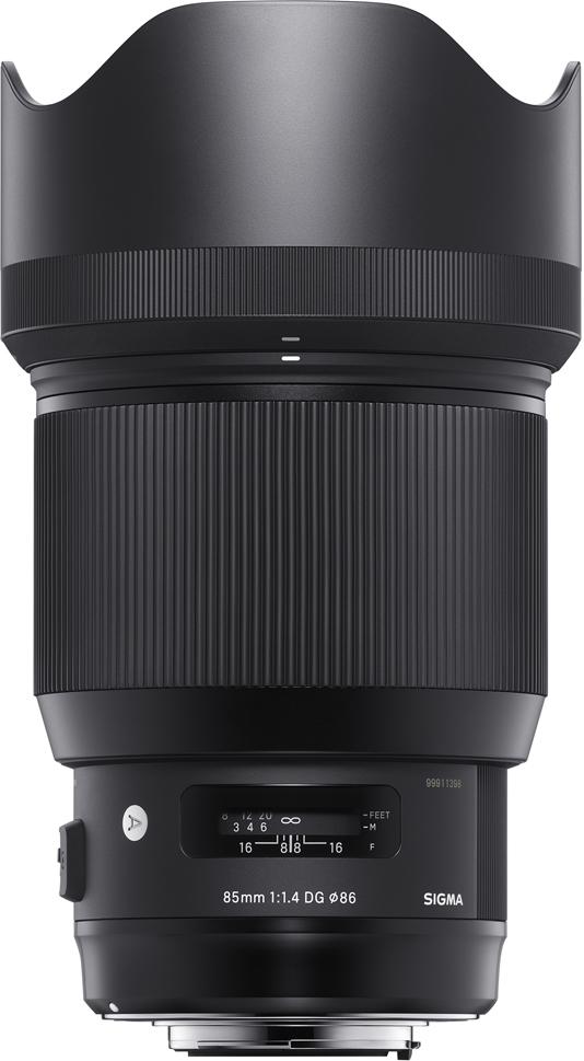 Объектив Sigma AF 85 mm F/1.4 DG HSM/A, Black для Nikon viltrox dg 1n 10mm 16mm auto extension tube set for nikon j1 j2 v1 black silver