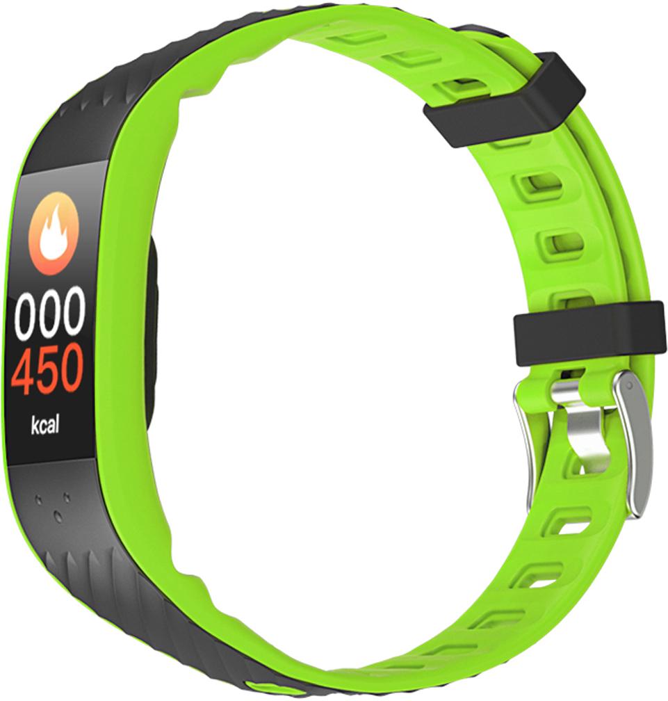 Фитнес-браслет Qumann QSB 12, зеленый, черный фитнес браслет qumann qsb 12 синий черный