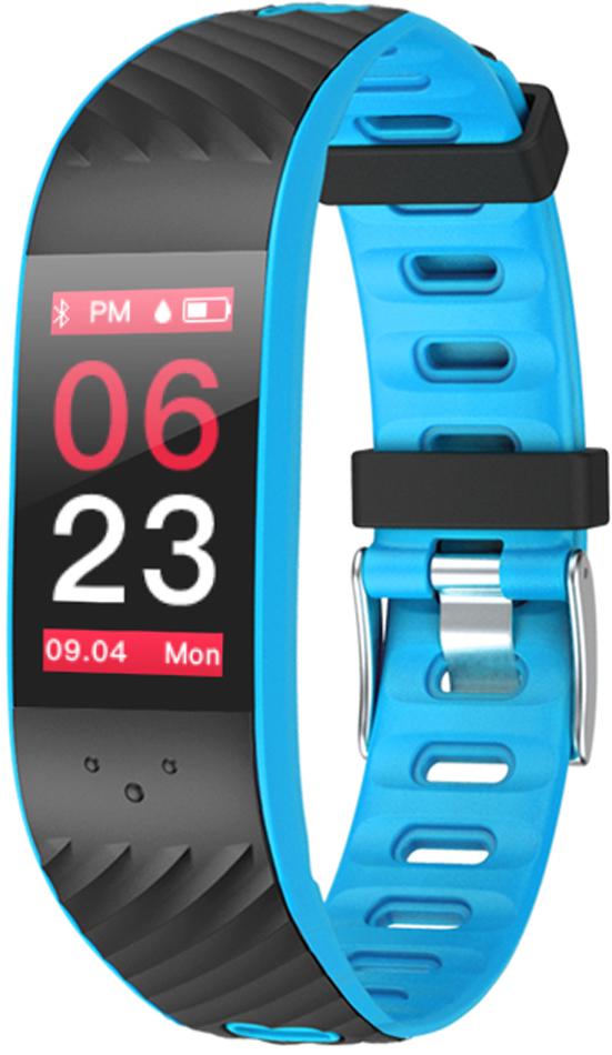Фитнес-браслет Qumann QSB 12, синий, черный фитнес браслет qumann qsb 12 синий черный