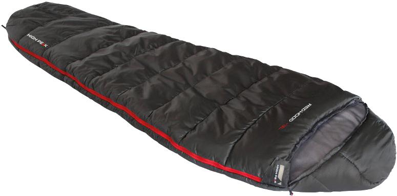 Мешок спальный High Peak Redwood -3L, цвет: темно-серый, левосторонняя молния. 23089