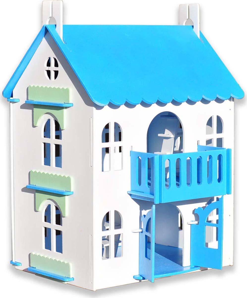 Woodlines Кукольный домик Арина цвет синий