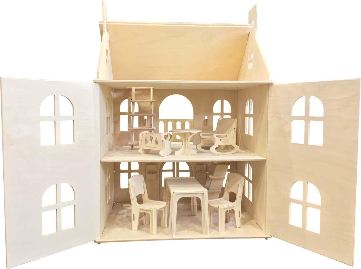 Woodlines Кукольный домик Арина с мебелью