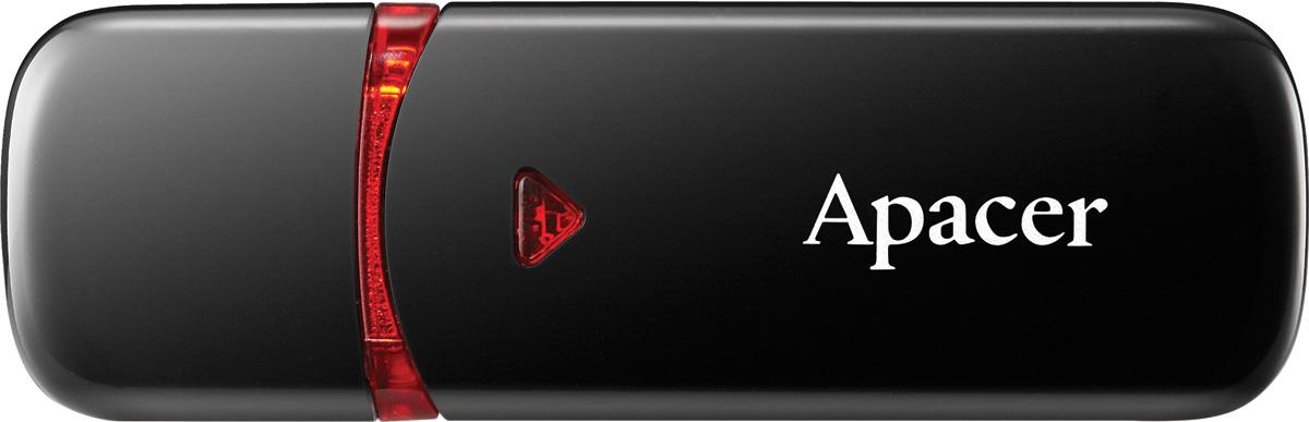 Apacer AH333 64GB, Black USB флеш-накопитель apacer ah 322 16gb black ap16gah322b 1