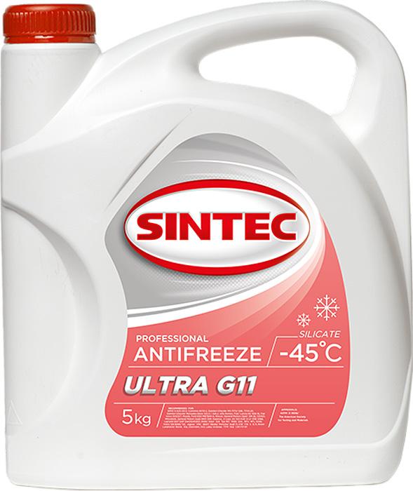цена на Антифриз Sintec ULTRA G11, цвет: красный, 5 кг