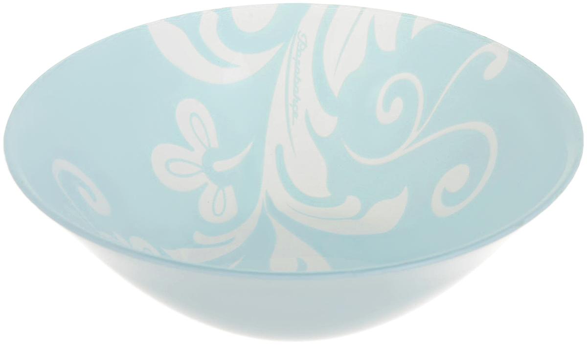 Салатник Pasabahce Classy , цвет: голубой, диаметр 14 см салатник pasabahce pleasure 14 см