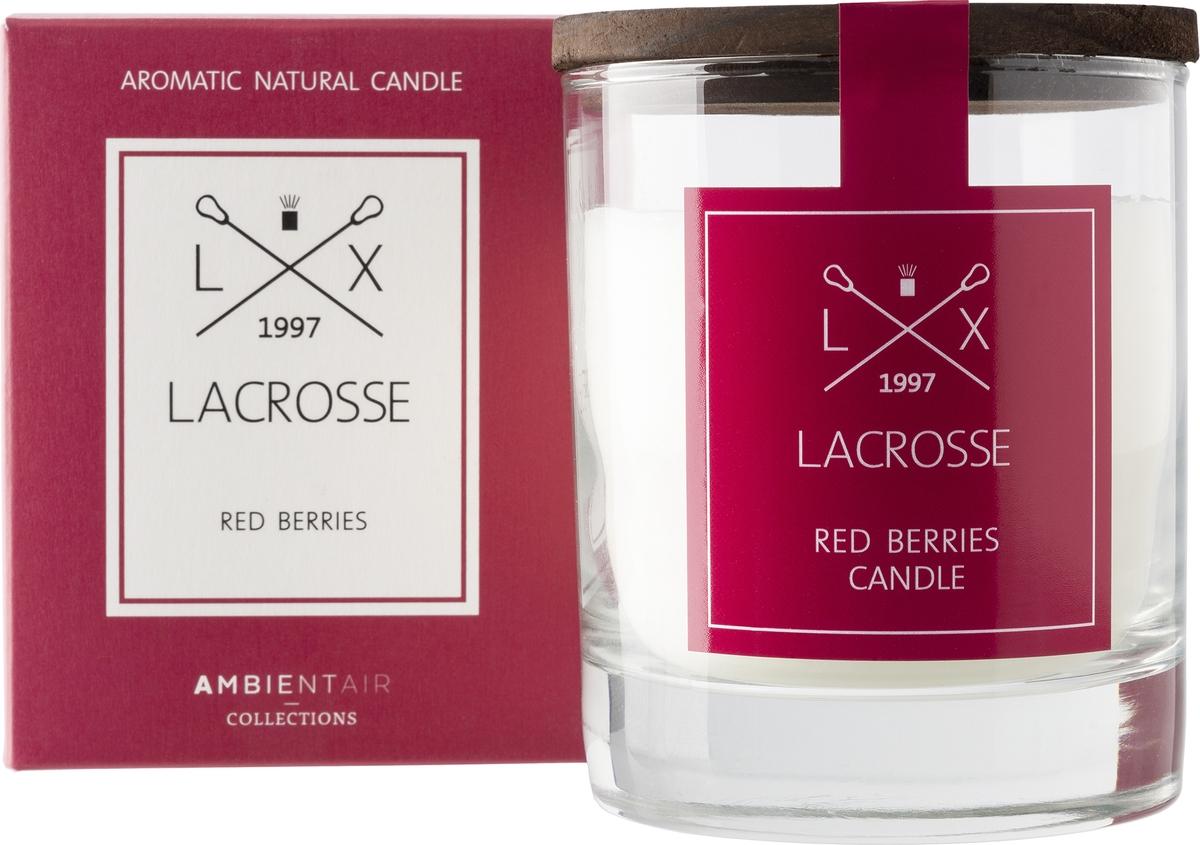 Свеча ароматическая Ambientair Красные ягоды, 8 х 8 х 10 см цена