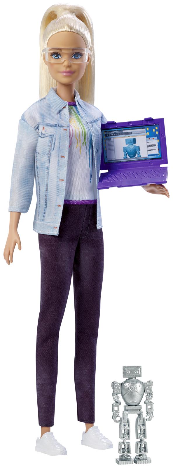Barbie Игровой набор с куклой Робототехник FRM08_FRM09