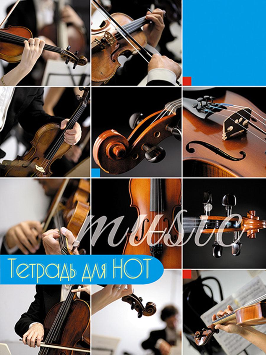 Апплика Тетрадь нотная Скрипки коллаж 16 листов формат А4 тетрадь для нот моне поле маков