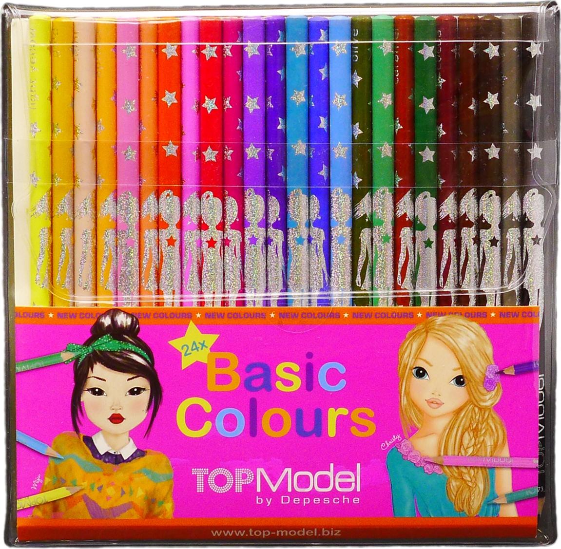 купить Depesche Набор цветных карандашей TOPModel 24 цвета по цене 1076 рублей