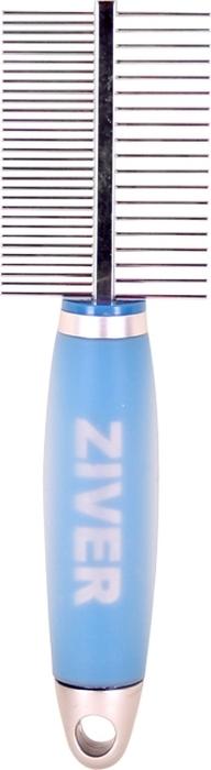 Расческа для животных Ziver, двусторонняя колтунорез для животных ziver прямой 9 лезвий