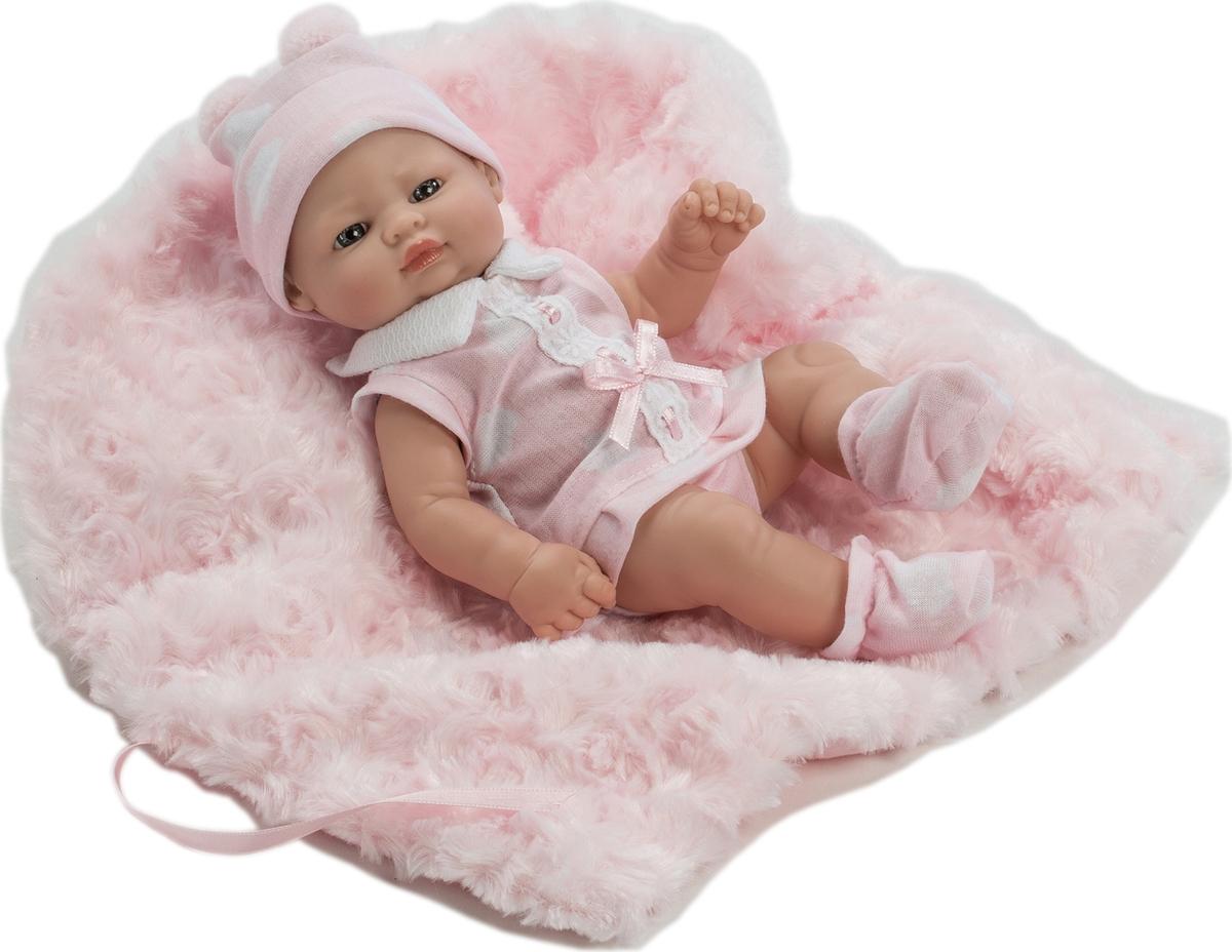 Munecas Berbesa Кукла Пупс новорожденный с пледом 27 см 2504R кукла berbesa виниловая 42см пупс новорожденный 5110