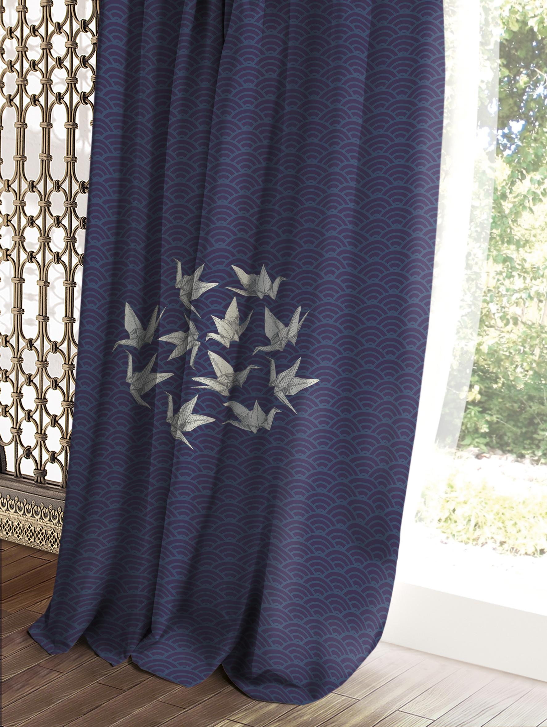 Штора Волшебная ночь Этно, цвет: темно-синий, 150 x 270 см штора волшебная ночь прованс цвет зеленый 150 x 270 см