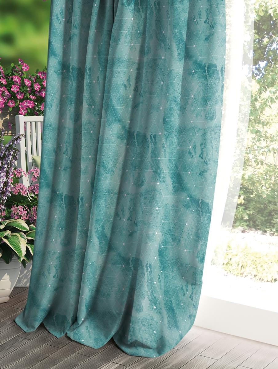 Штора Волшебная ночь Прованс, цвет: зеленый, 150 x 270 см штора волшебная ночь прованс цвет светло серый 150 x 270 см