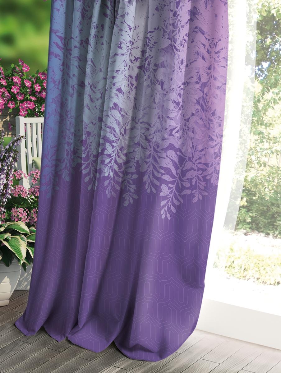 Штора Волшебная ночь Прованс, цвет: темно-синий, 150 x 270 см штора волшебная ночь прованс цвет светло серый 150 x 270 см